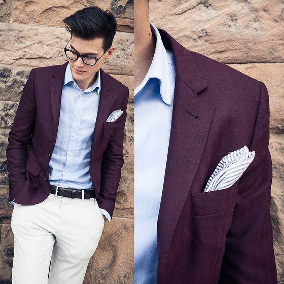This burgundy blazer ...well suited | Best Dressed | Pinterest ...