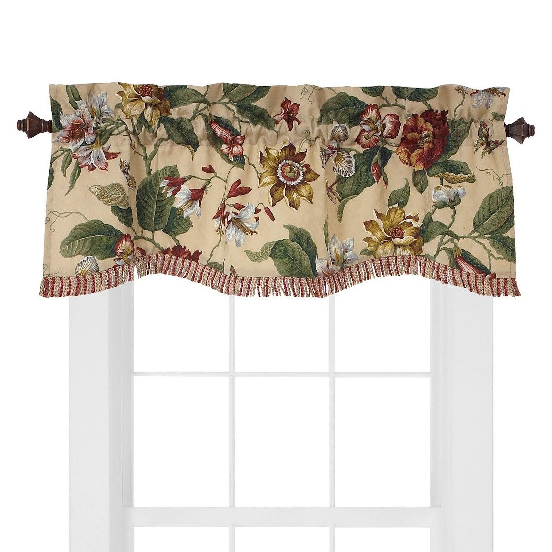 Waverly Laurel Springs Valance Parchment 50 X15 Window Valance Valance Valance Curtains #tailored #valances #for #living #room