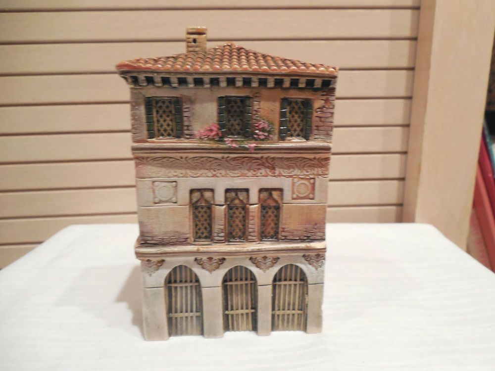 Tiny Home Designs: Vintage Dominique Gault Clay Miniature House/building