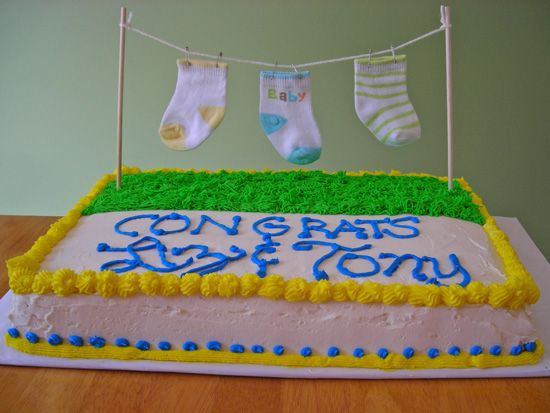 Baby Shower Cakes You Can Make At Home ~ Simple baby shower cake ideas for a girl elegant living room