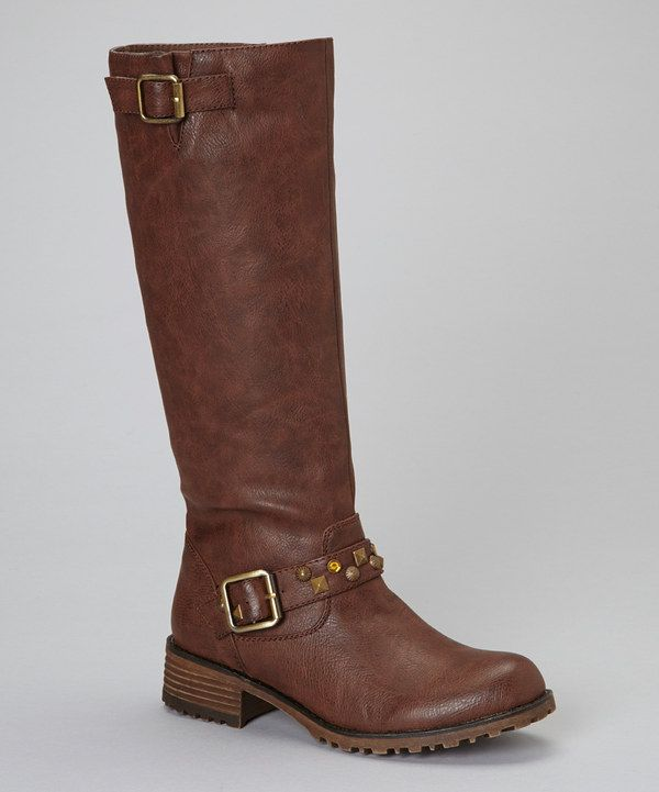 This PINKY FOOTWEAR Brown Jayda Riding Boot by PINKY FOOTWEAR is perfect! #zulilyfinds