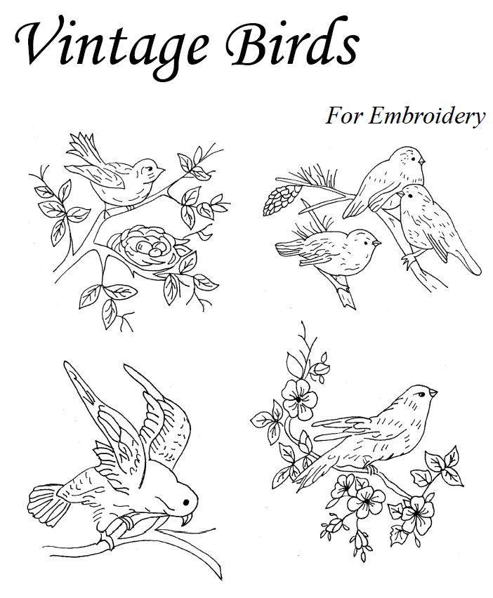 Vintage Embroidery Patterns | Vintage Birds