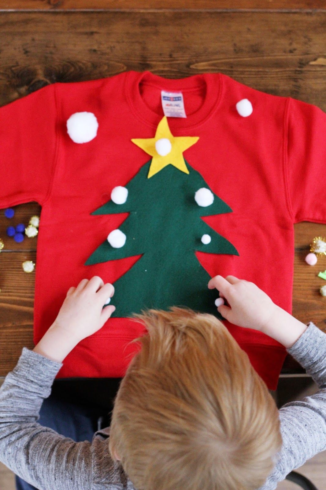 DIY Ugly Christmas Sweater For Kids | Ugly sweater ideas | Pinterest ...