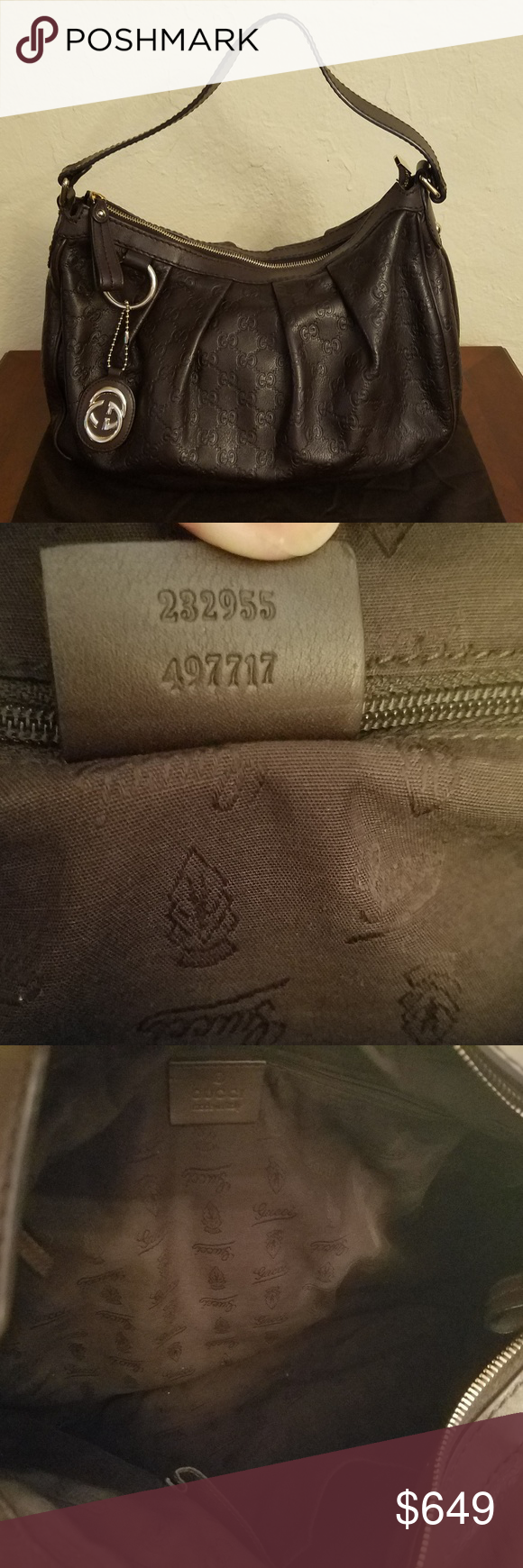 396af493ff3 Gucci Guccissima Medium Sukey Hobo Authentic Gucci Guccissima Medium Sukey  Hobo is crafted of pleated and