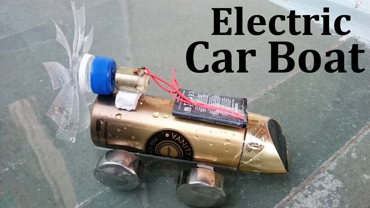 How To Make An Electric Car Boat At Home Easy Way