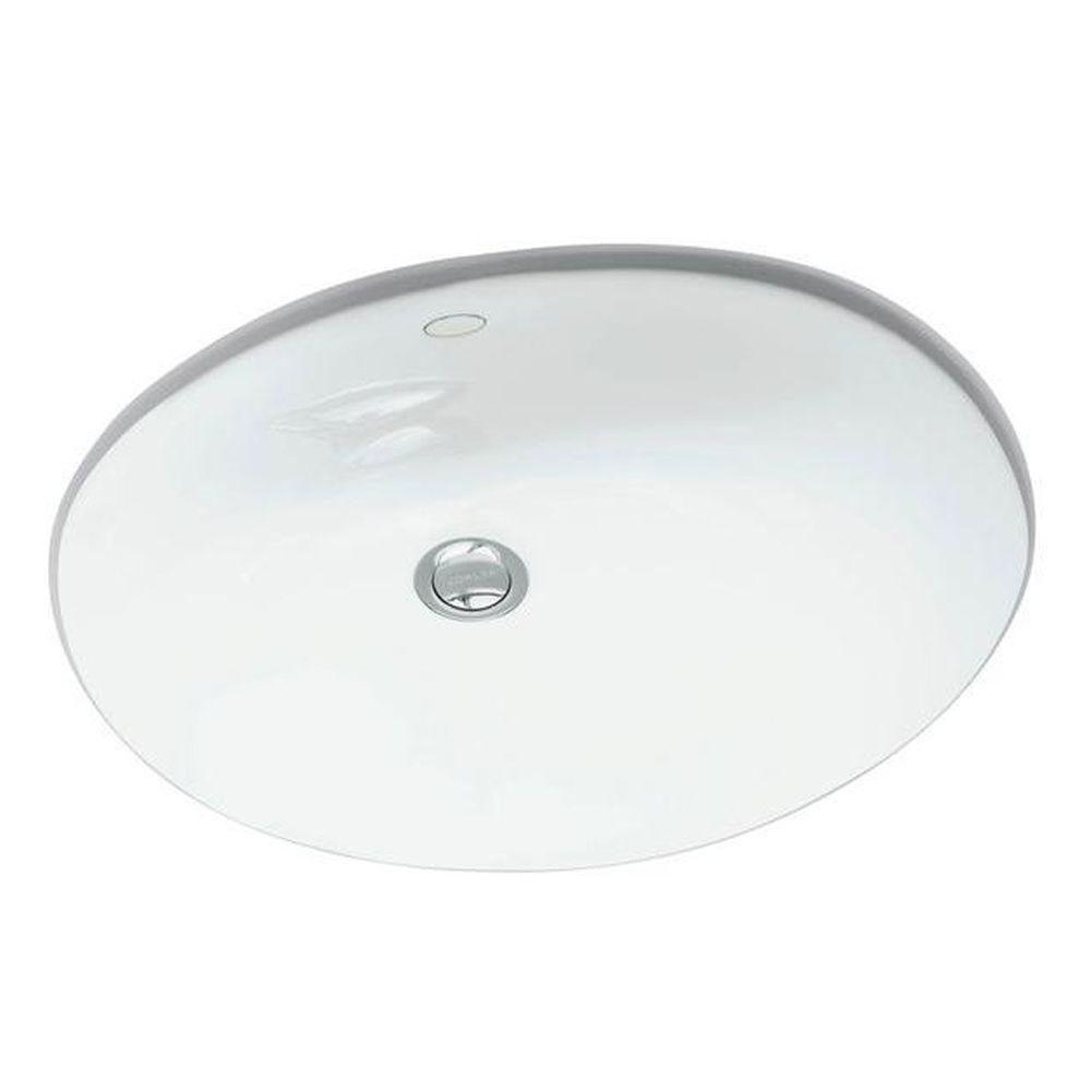 Bathroom Sinks   KOHLER Caxton Undermount Bathroom Sink In White K 2209 0