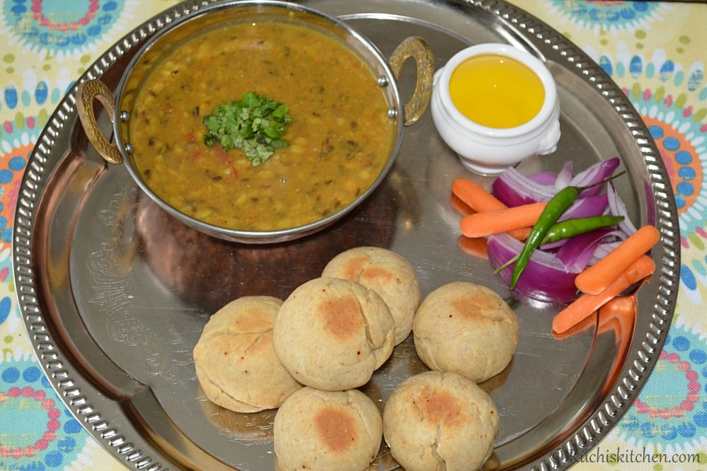 signature dish of rajasthan dal baati churma relished and enjoyed by all