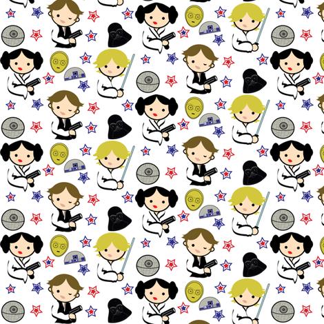 Omg Too Cute Star Wars Chibi Fabric By Kiwicuties On Spoonflower Poster Decoracao Estampas Padroes De Impressao