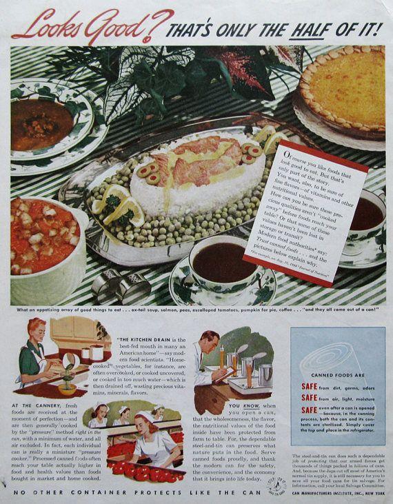 1945 canned manufacturer s institute ad retroreveries