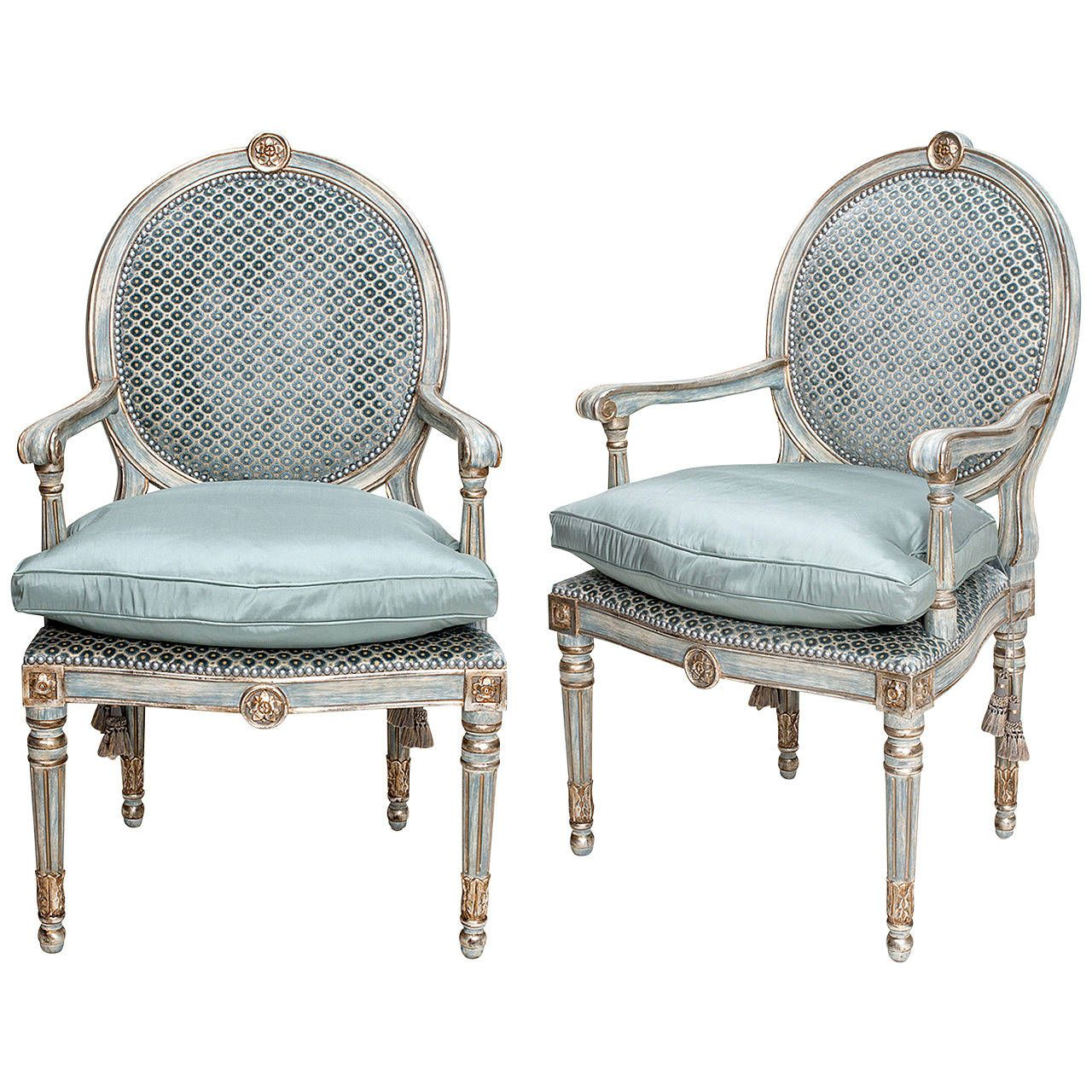 Louis XVI Style Pair of Armchairs circa 1890s