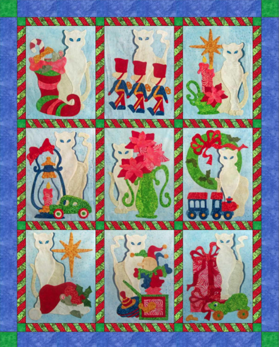 free quilt pattern snowy noel christmas quilt