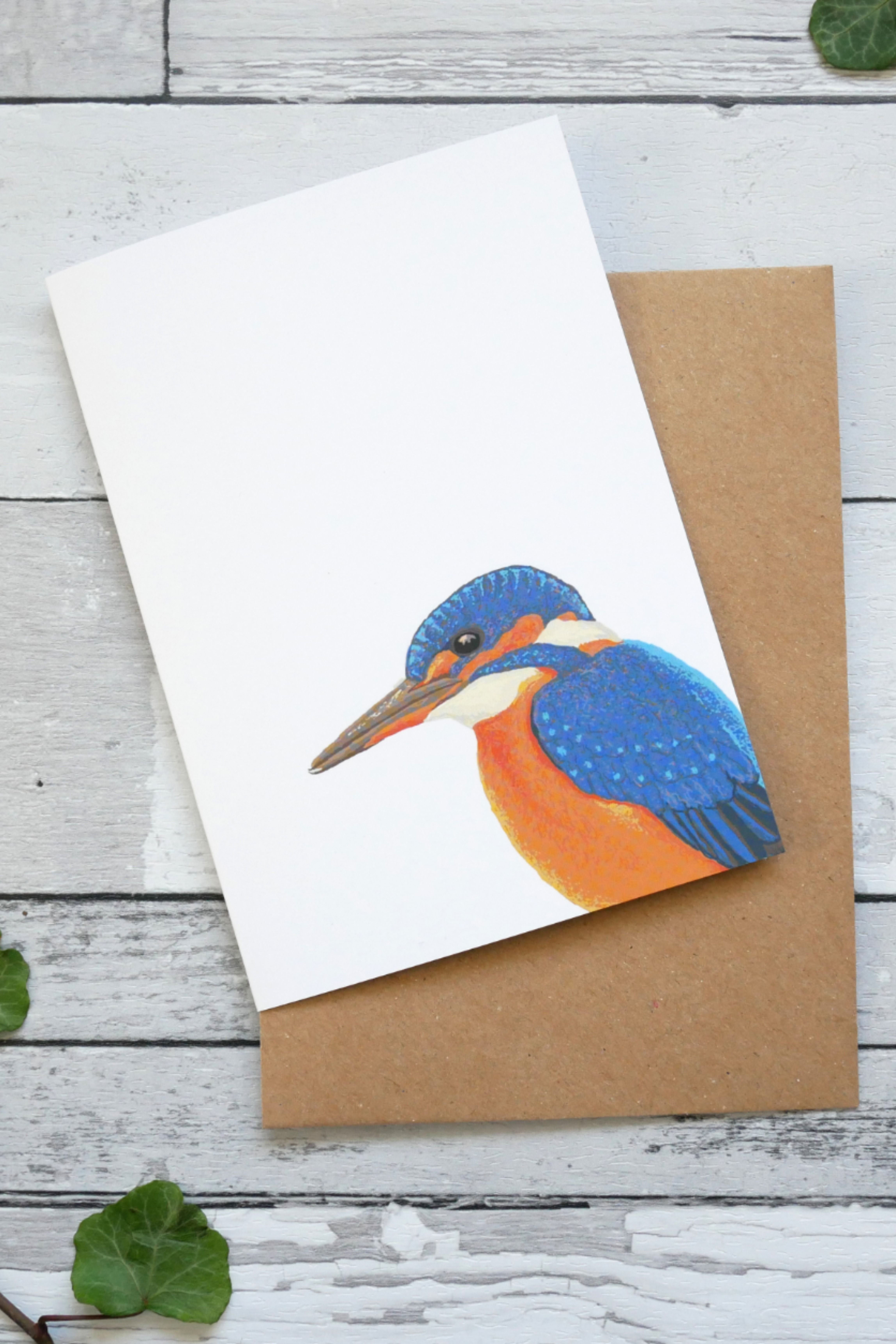 Kingfisher Greetings Card Recycled Blank Card British Birds Greeting Cards Cards Crafts