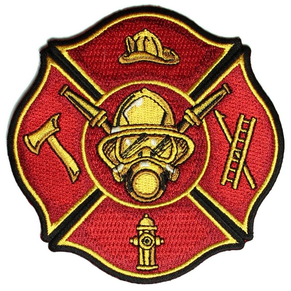 Firemans Axe /& Hat Fire /& Rescue Embroidered Iron On Patch SMALL