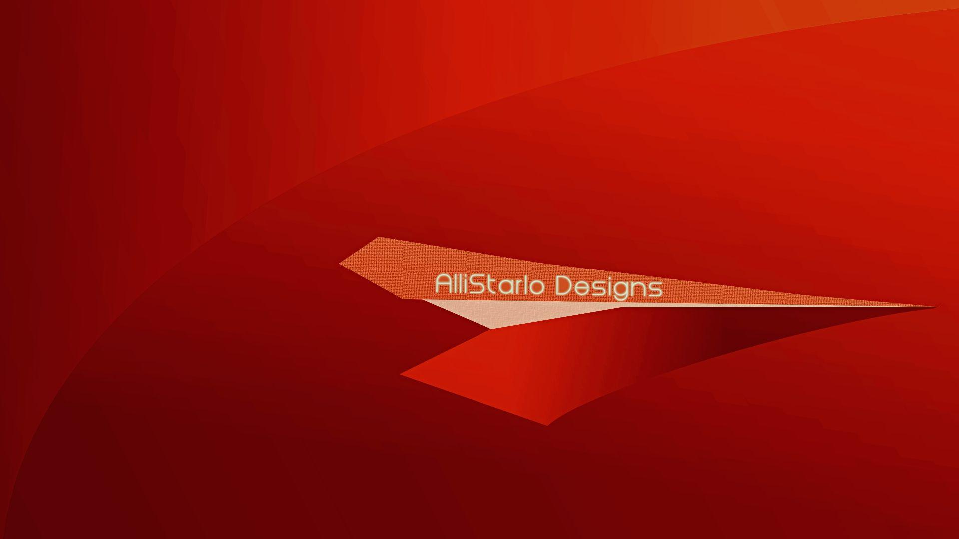 Abstract AlliStarlo Wallpaper. Very Vivid Red!