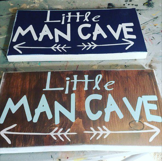 Little man cave, Wooden sign, little boy, nursey, handpainted, man cave, baby boy, baby shower, boy gift images