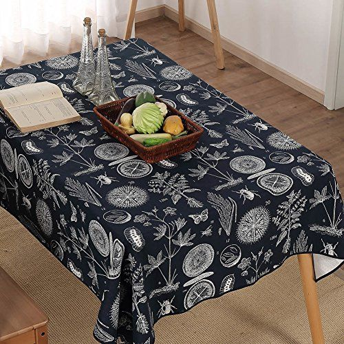 Awesome Cotton and linen canvas retro dining table cloth coffee table cover animal and plant specimens pattern A 70x70cm 28x28inch Photos - coffee table cover Ideas