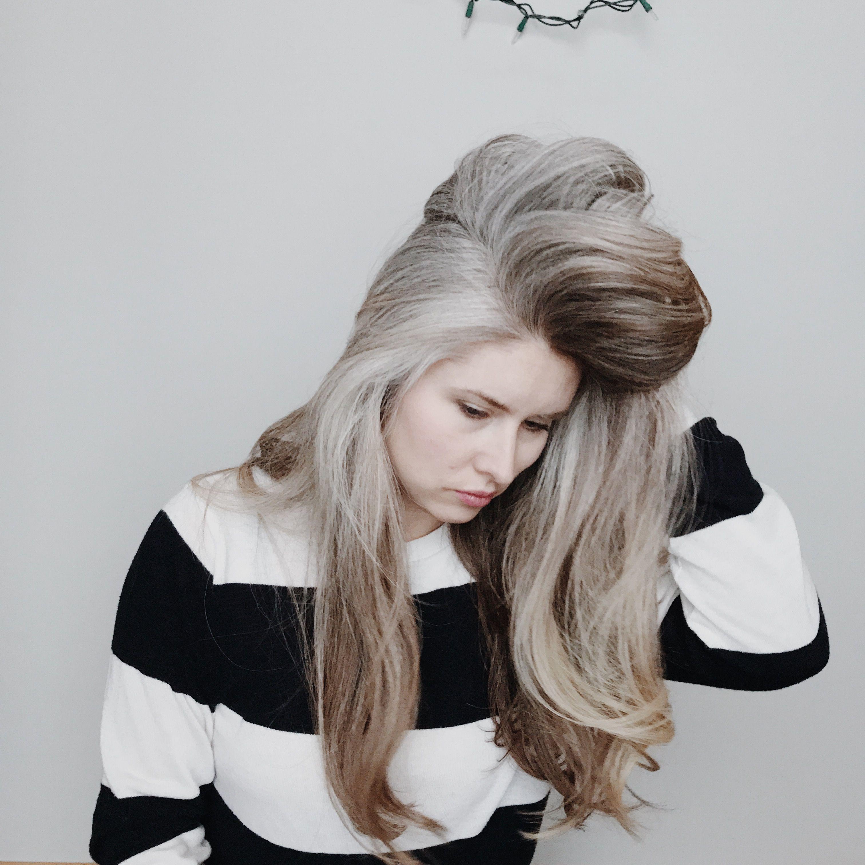 Salt and pepper gray hair. Grey hair. Silver hair. White hair. don ...