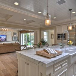 Home redesign...Houzz dolphin terrace - love everything about this home from the white oak floors to the open kitchen to the outside!