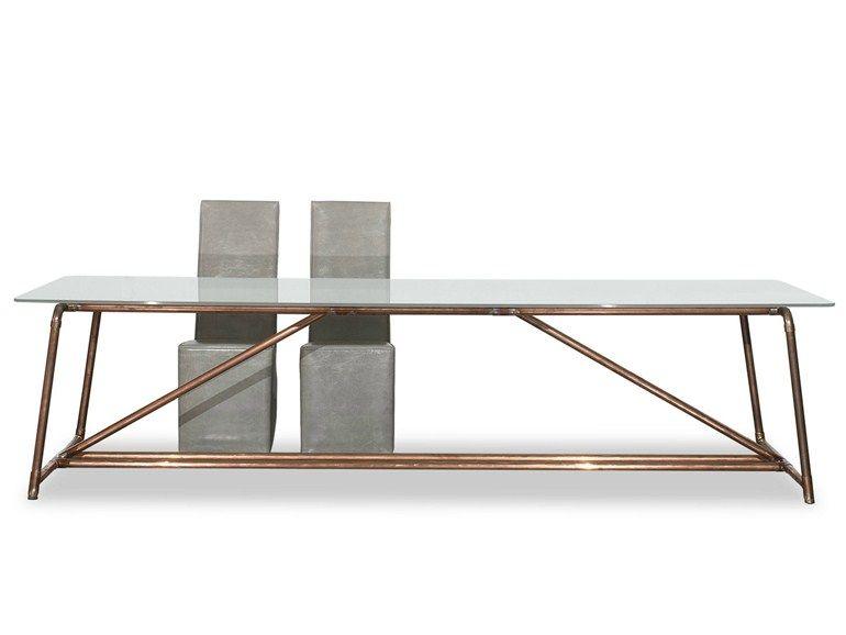 Immagini tavolo ~ Tavolo in vetro temperato brooklin by baxter design paola navone