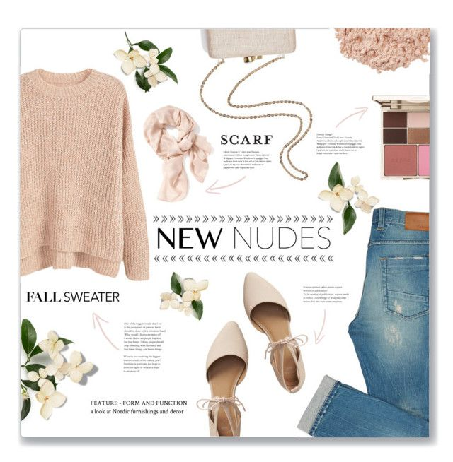 """""""New Nudes"""" by aya7199 ❤ liked on Polyvore featuring MANGO, Stila, Gap, Kayu, La Mer and Old Navy"""