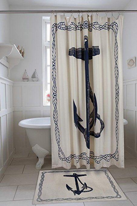 Amazon Com Shower Curtains Fabric Shower Curtains Thomas Paul Bathroom Decor Nautical Beach Bathroom Design Trends Nautical Shower Curtains Beach House Decor