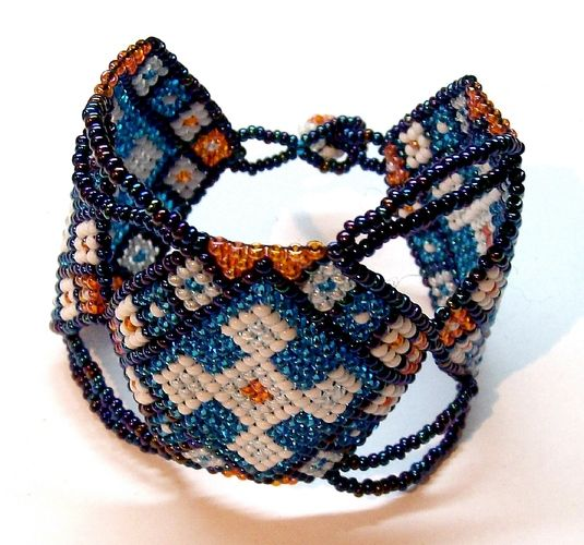 'Handmade Beaded Bracelet' is going up for auction at  3pm Tue, Jul 17 with a starting bid of $8.