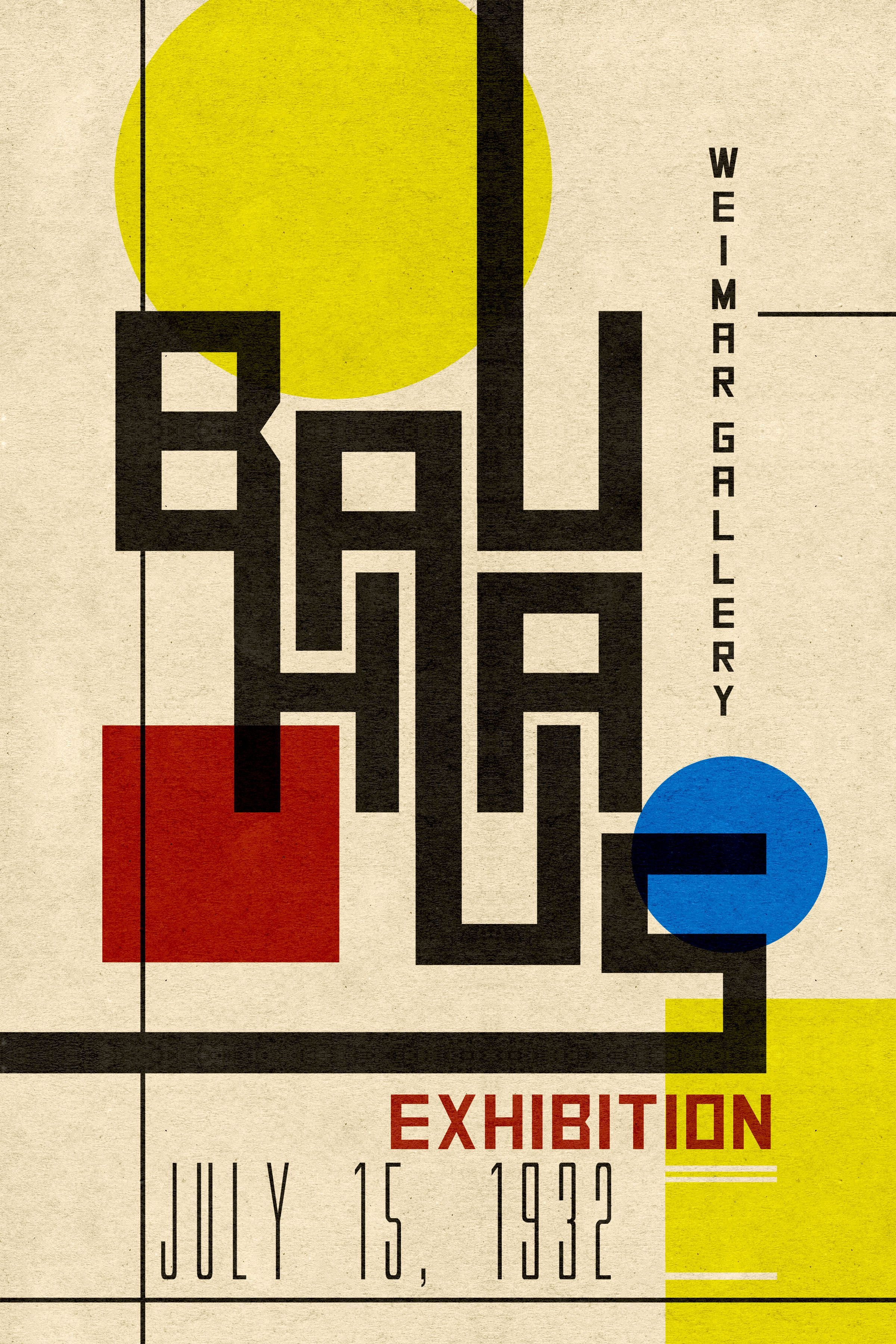 Bauhaus Poster posterdesignsoftware (With images