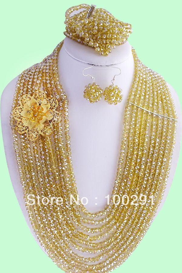 Gorgeous!!! pretty party crystal necklace+bracelet + earring set fashion design jewelry necklace set $78.53