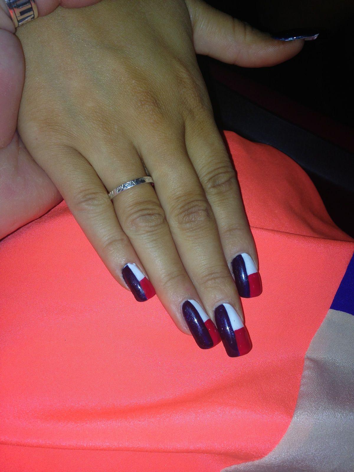 Texas flag nails | Nailsss | Pinterest | Flag nails, Texas nails and ...