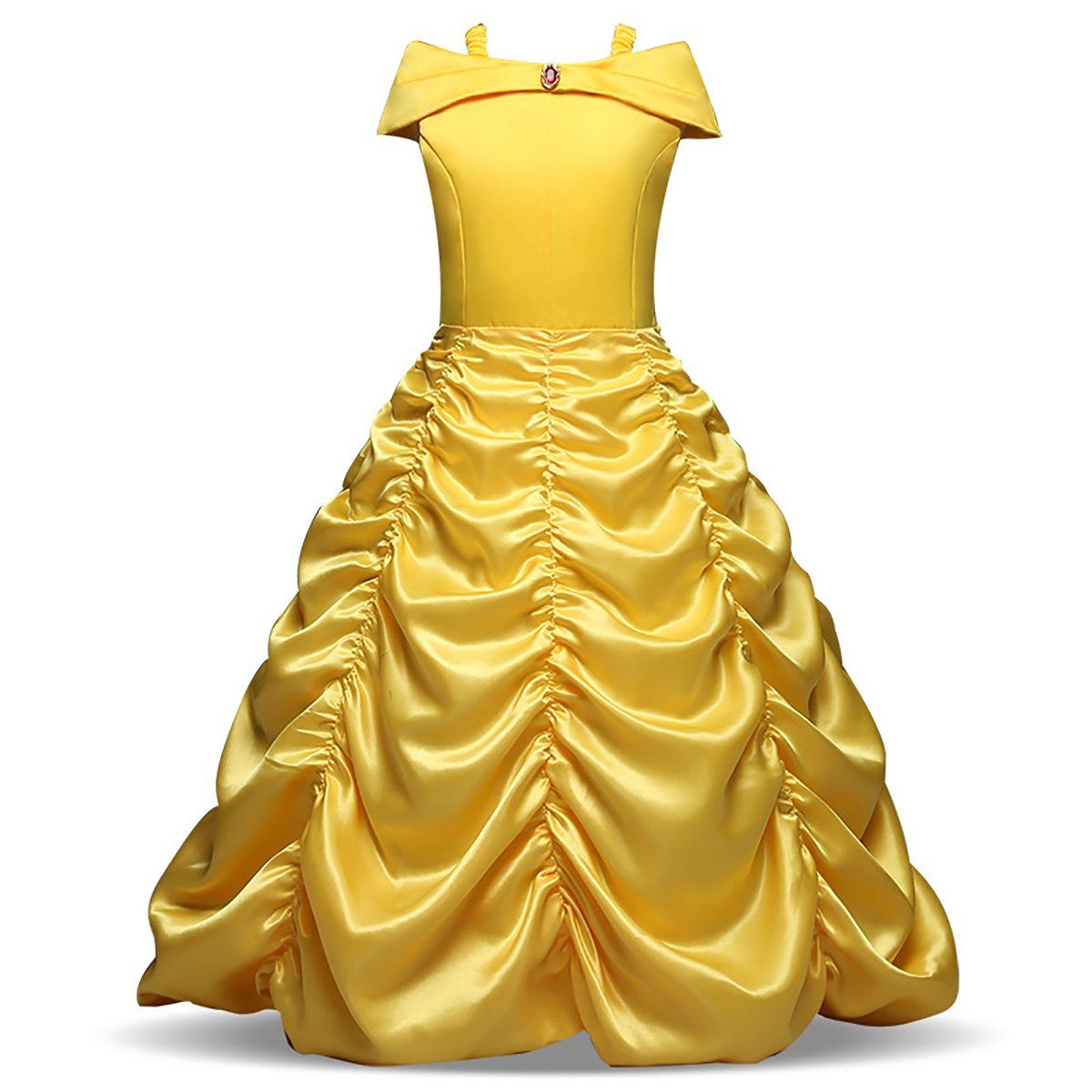 Princess Yellow Off Shoulder Layered Costume Dress For Little Girls With Accessories Walmart Com In 2021 Girls Fancy Dress Kids Party Dresses Belle Dress [ 1200 x 1200 Pixel ]