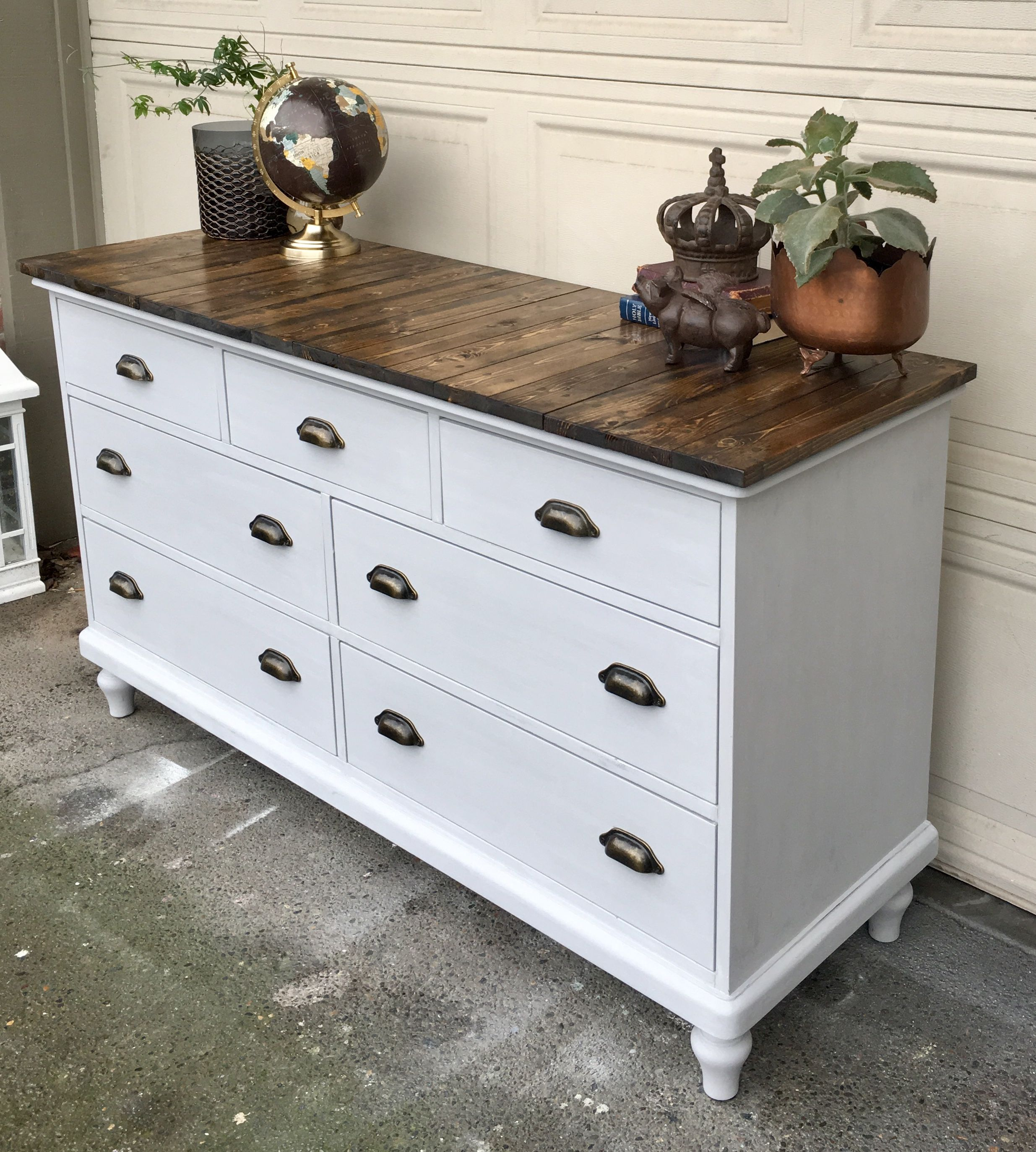 Refinished Pottery Barn Dresser Painted