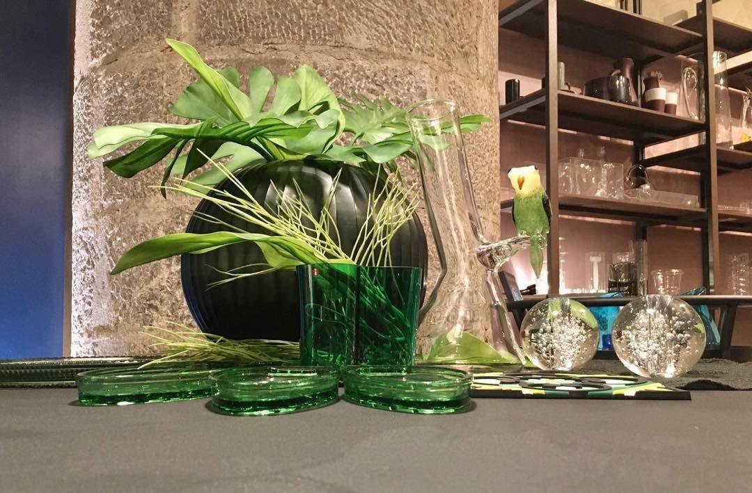 Green glass inspiration @iittala @guaxs_official @massimo_lunardon_ @paola.navone #homedetails #design # #vases...Green glass inspiration @iittala @guaxs_official @massimo_lunardon_ @paola.navone #homedetails #design # #vases #glass #alvarcollection #fish&fish