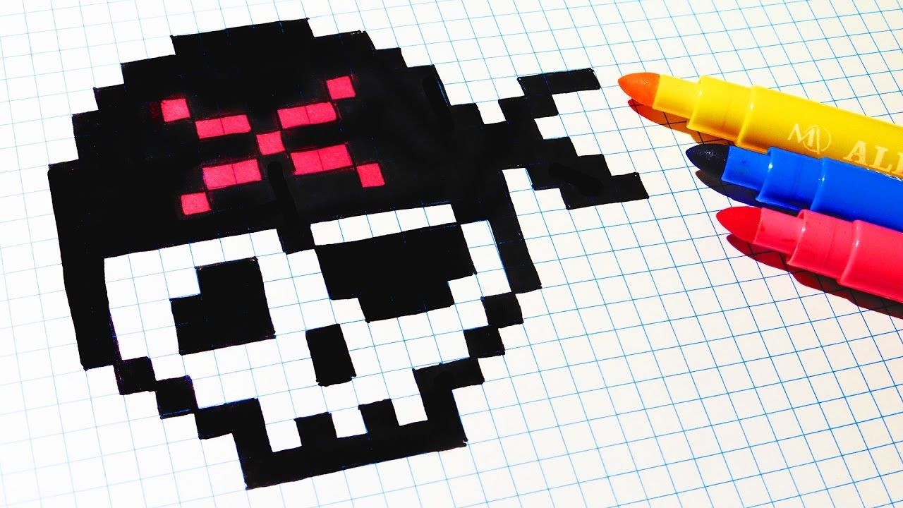 Halloween Pixel Art How To Draw Pirate Skull Pixelart