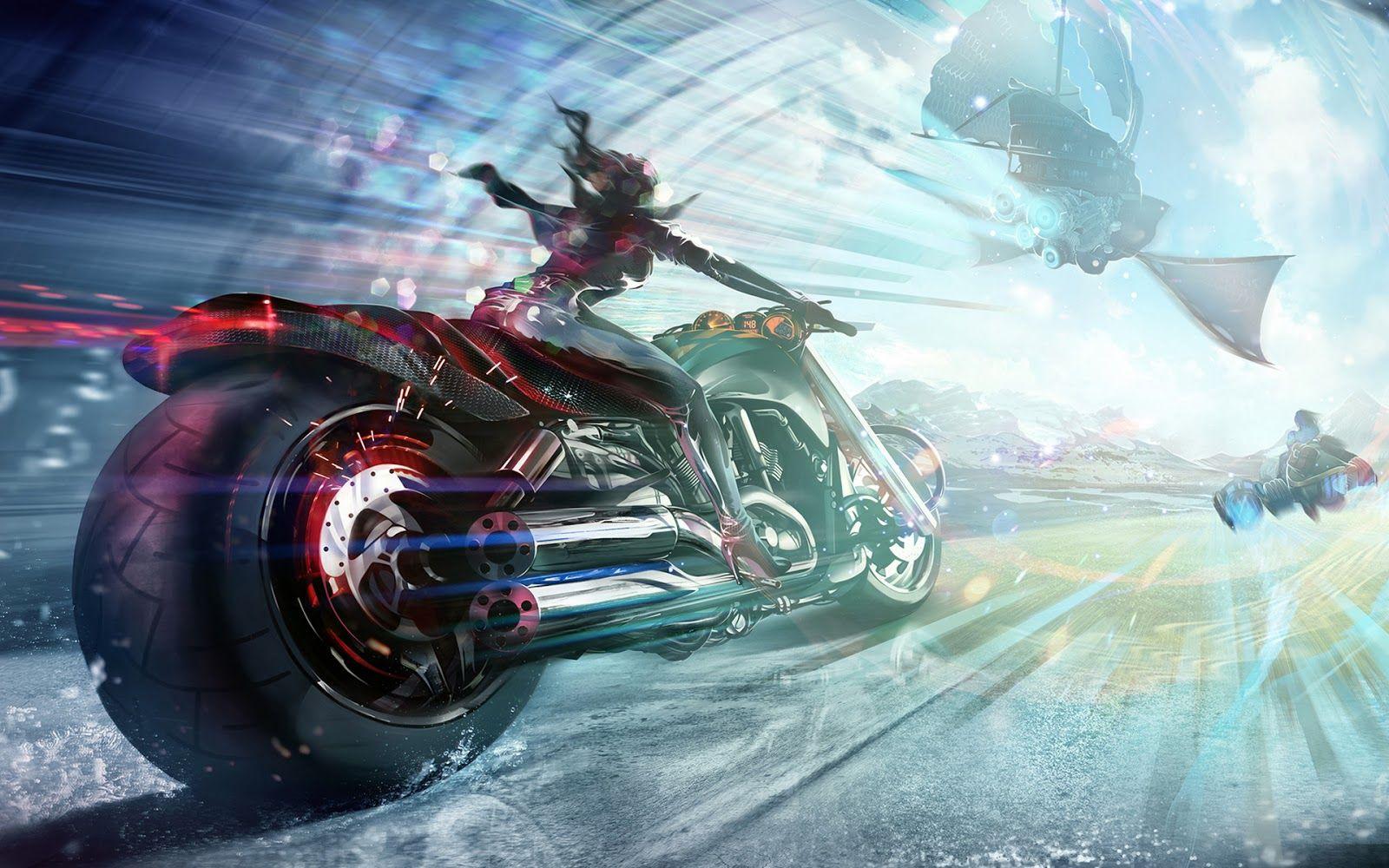 3d Bike Hd Wallpaper Hd Wallpapers Blog Biker Art Anime Wallpaper Art Wallpaper