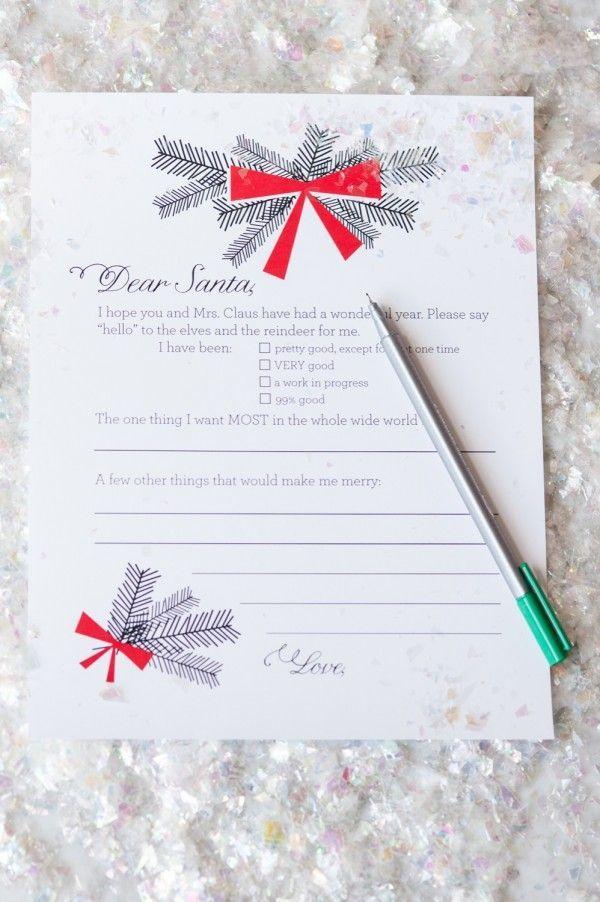 dear santa christmas wish list printables by cydconverse