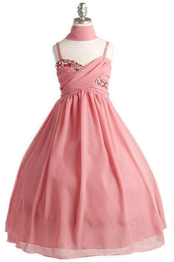 Excelente Dama De Honor Vestidos De Las Niñas Patrón - Ideas para el ...