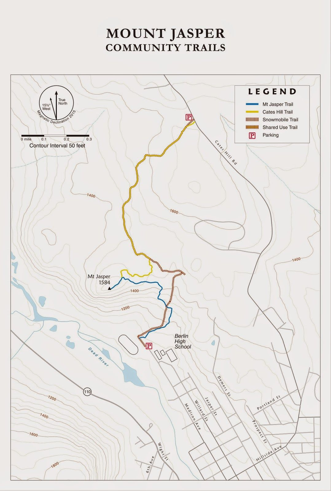 AMC Trails Blog: Trail maps and hand-inked artwork for Mt Jasper ...