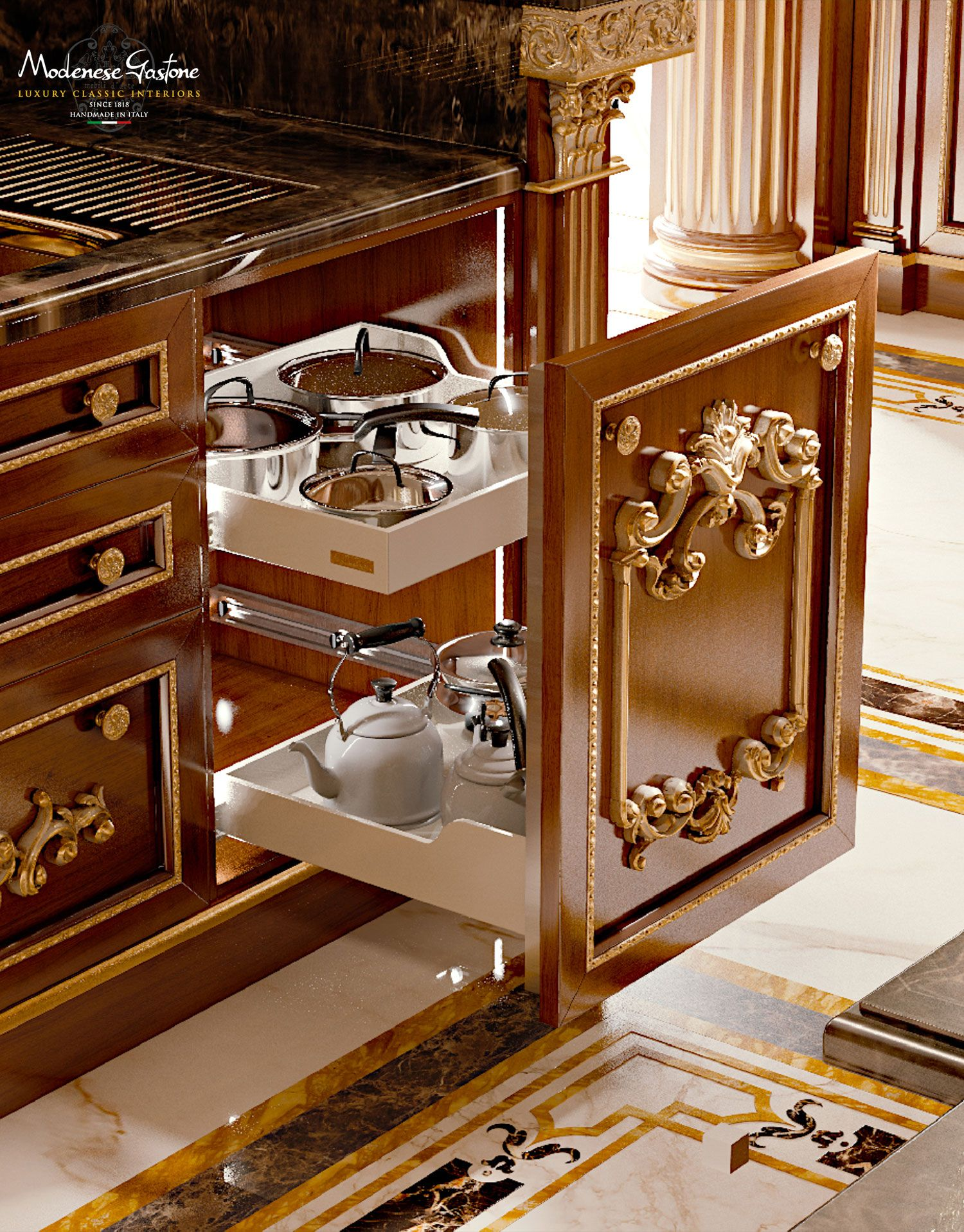 Modenese gastone manufactures handcrafted luxury furniture for Boiserie dwg