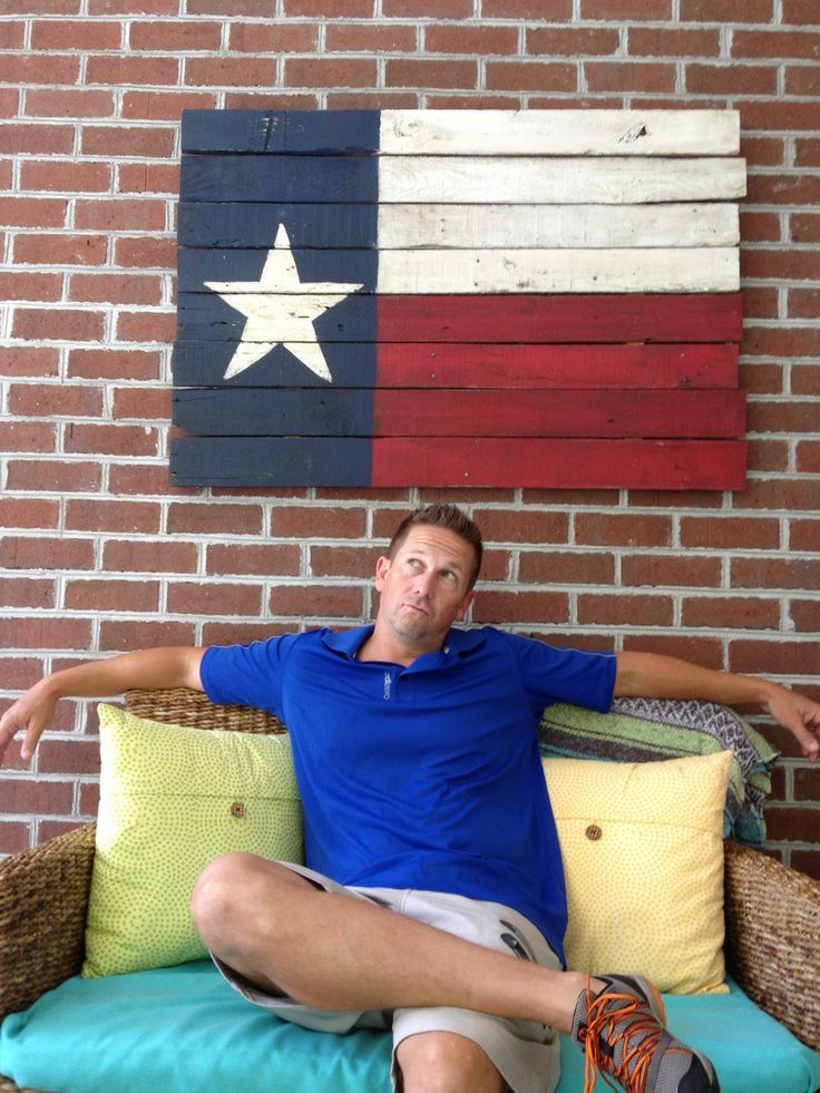things to make from pallets | Wooden Texas Flag made w ...