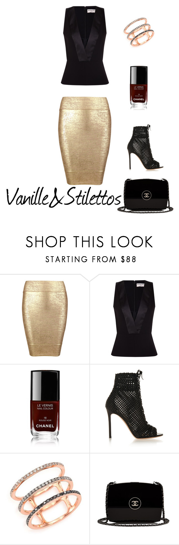 how to wear sequin skirt by laure-assany on Polyvore featuring mode, Balenciaga, Posh Girl, Gianvito Rossi, Chanel and EF Collection