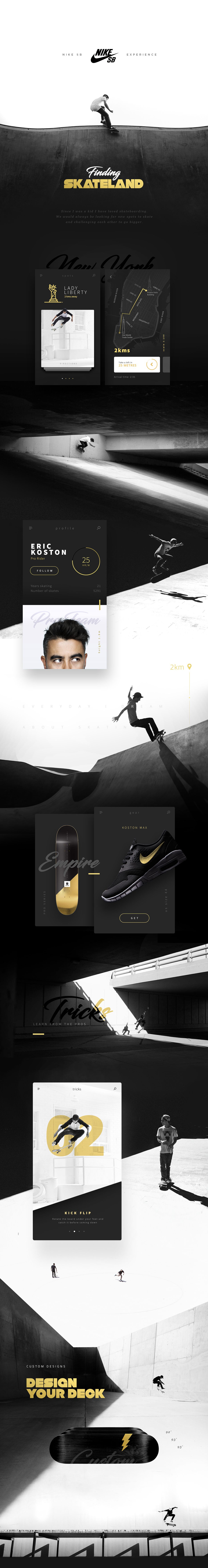 Stylish UI Design for Nike SB Concept Project