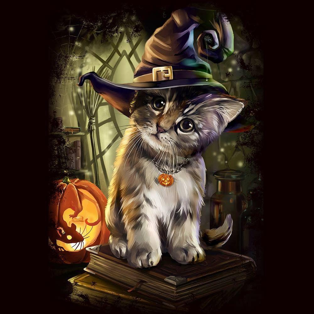 Pin By Heidi Bradham On Paint Ideas Halloween Art Halloween Cat Cat Art