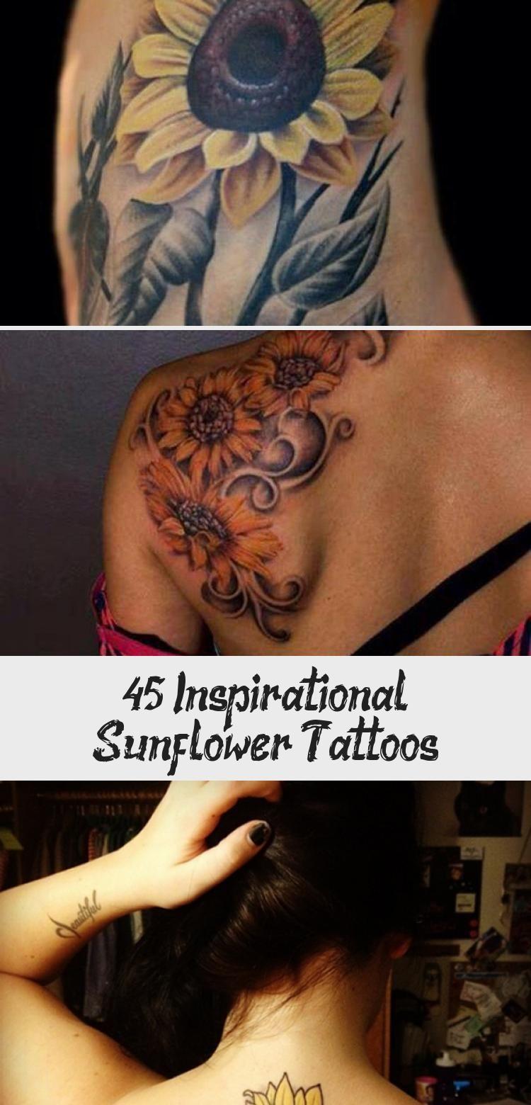 Photo of sunflower tattoo – 45 Inspirational Sunflower Tattoos #sunflowertattoosDrawing #…