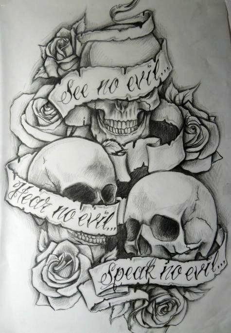 See No Evil Hear No Evil Speak No Evil See No Evil Hear No Evil Speak No Evil Evil Tattoos Evil Skull Tattoo Evil Tattoo