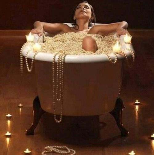 Bathe me in Pearls | I Just Want to Take a Bath | Pinterest | Pearls ...