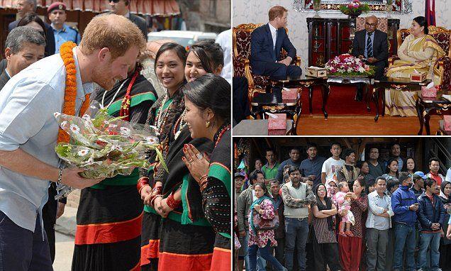 Harry visits earthquake-damaged areas in Kathmandu on Nepal trip