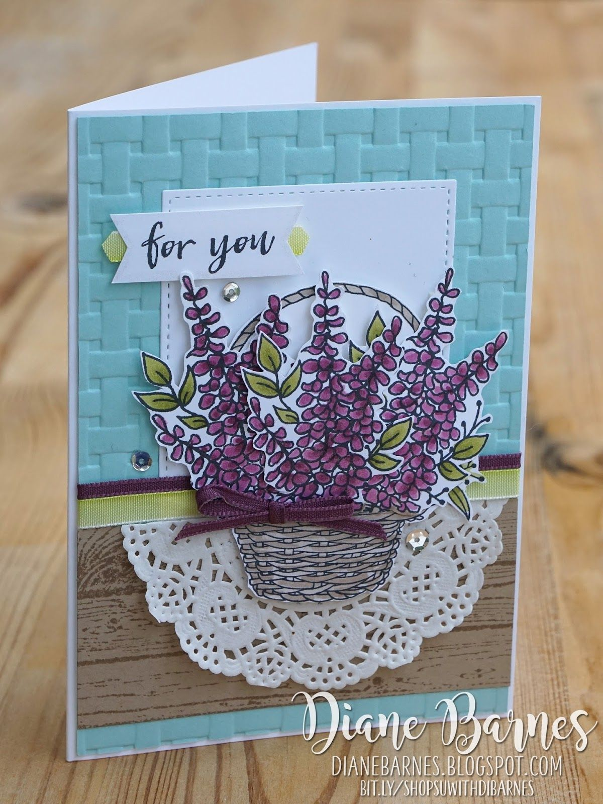 Blossoming Basket same but different Cards handmade