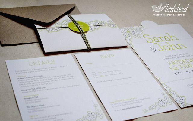 Floral Gatefold Wedding Invitation