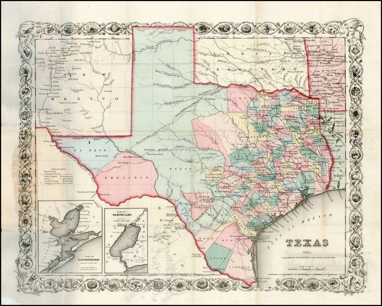 Antique Maps Of Texas