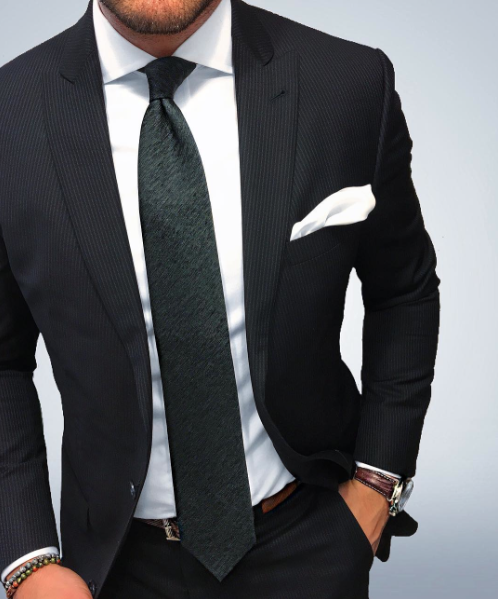 022ee1f6cd908 Wool Autumn Tie in Charcoal and Olive Green in 2019 | Men's Fashion ...